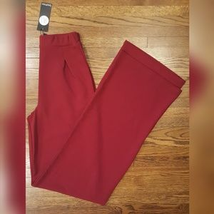 Boohoo Tall Wine Emma Wide Leg Pant Trouser 2